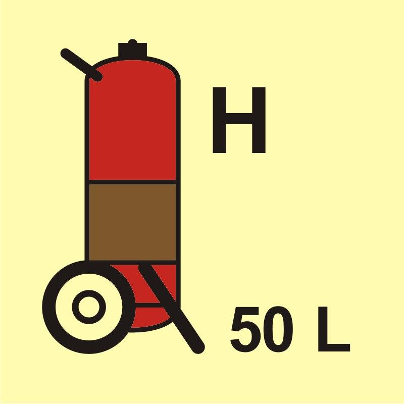 Gaśnica kołowa (H - gaz) 50L