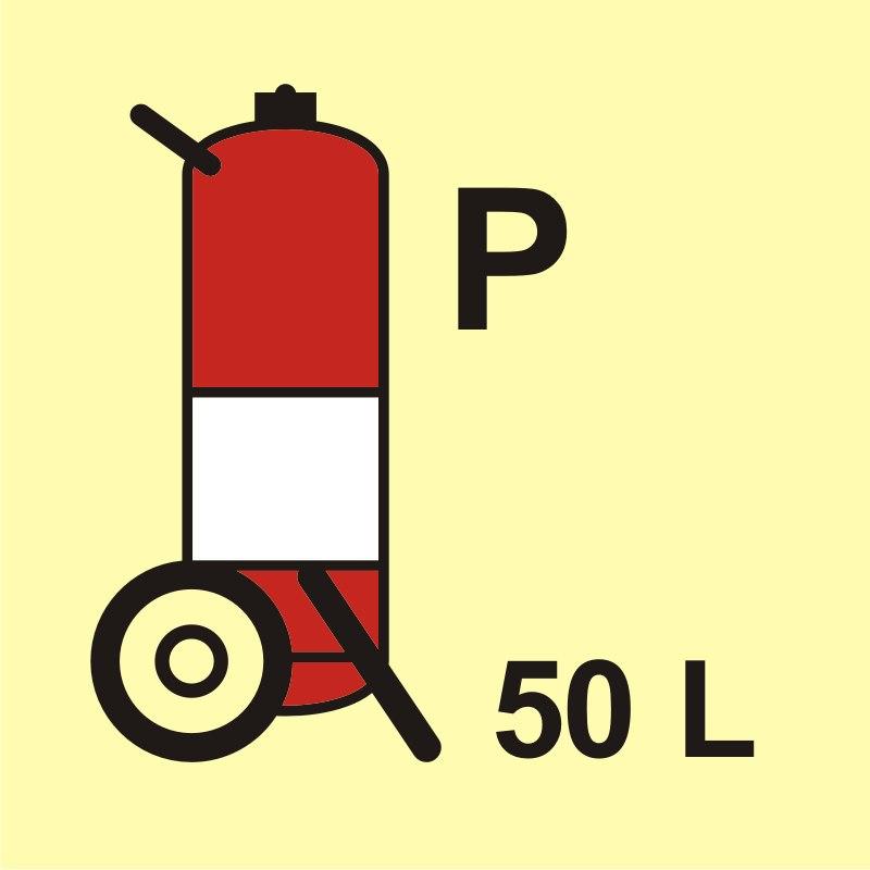 Gaśnica kołowa (P - proszek) 50L