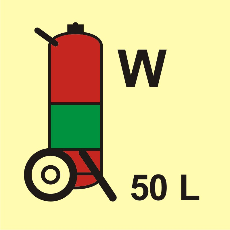 Gaśnica kołowa (W - woda) 50L