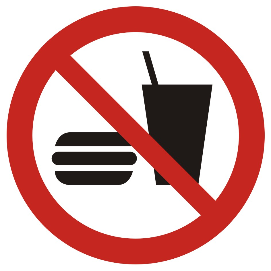 Zakaz wstępu z jedzeniem i piciem