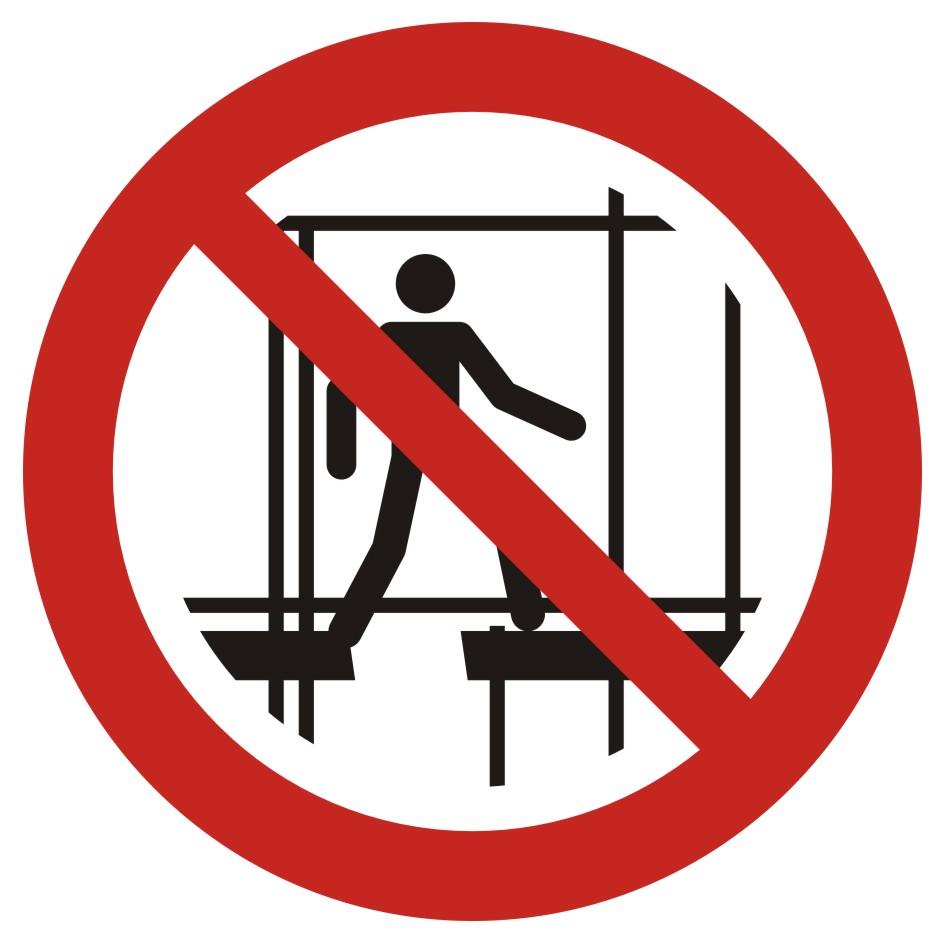 Zakaz używania niekompletnego rusztowania