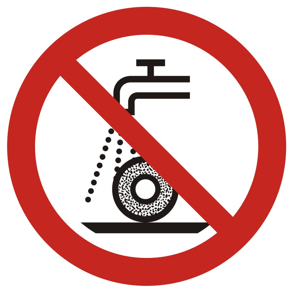 Zakaz szlifowania na mokro