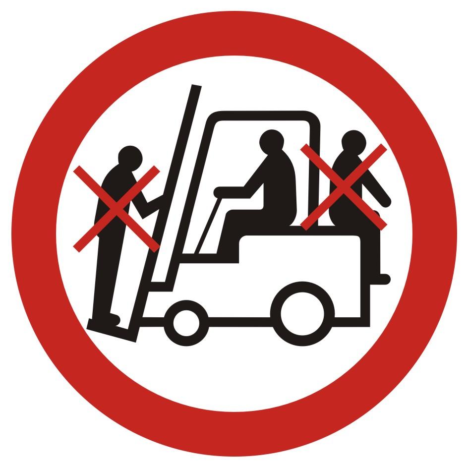 Zakaz przewozu osób na urządzeniach transportowych