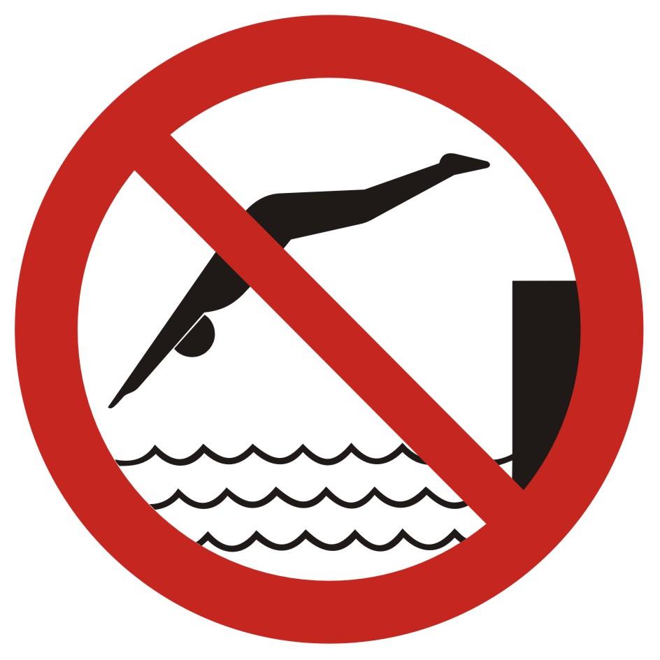 Zakaz skakania do wody