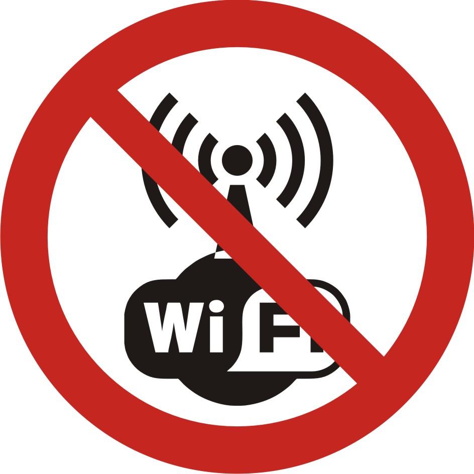 Zakaz używania bezprzewodowego internetu