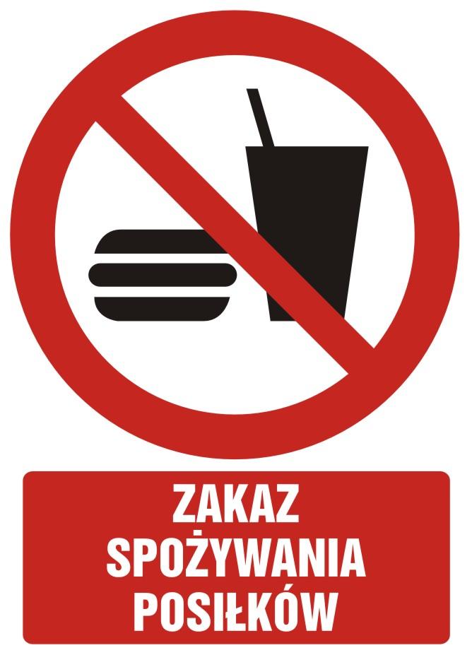Zakaz spożywania posiłków z opisem