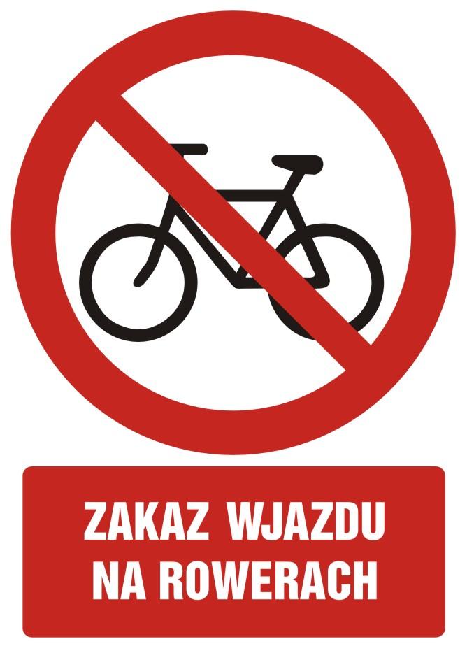 Zakaz wjazdu na rowerze z opisem