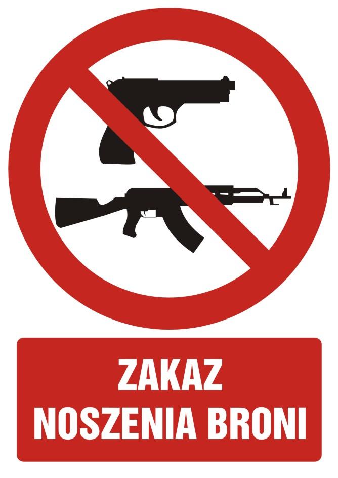 Zakaz noszenia broni z opisem