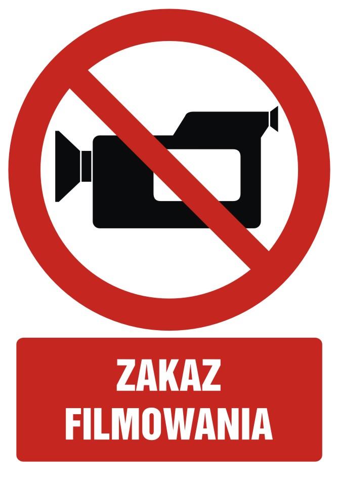 Zakaz filmowania z opisem