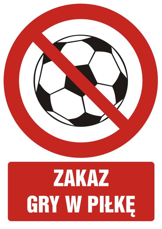 Zakaz gry w piłkę z opisem