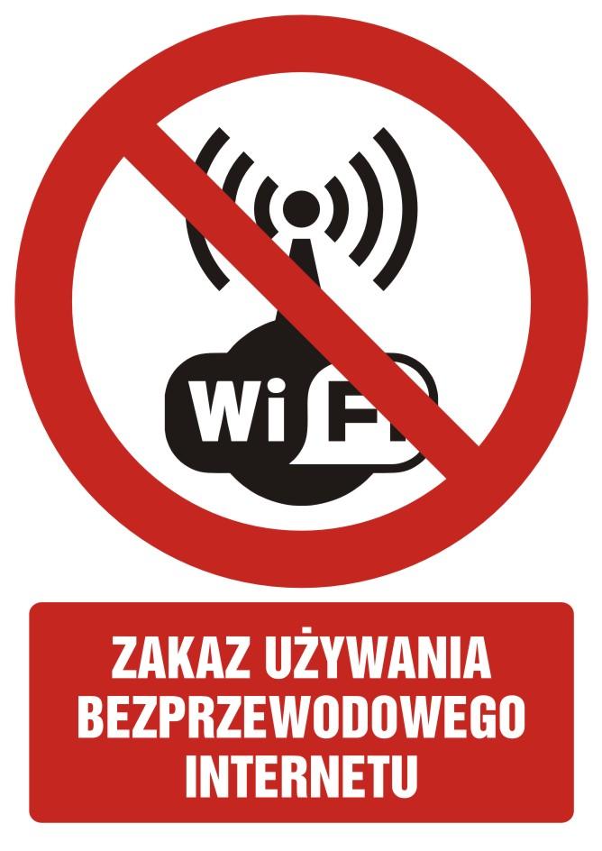 Zakaz używania bezprzewodowego internetu z opisem