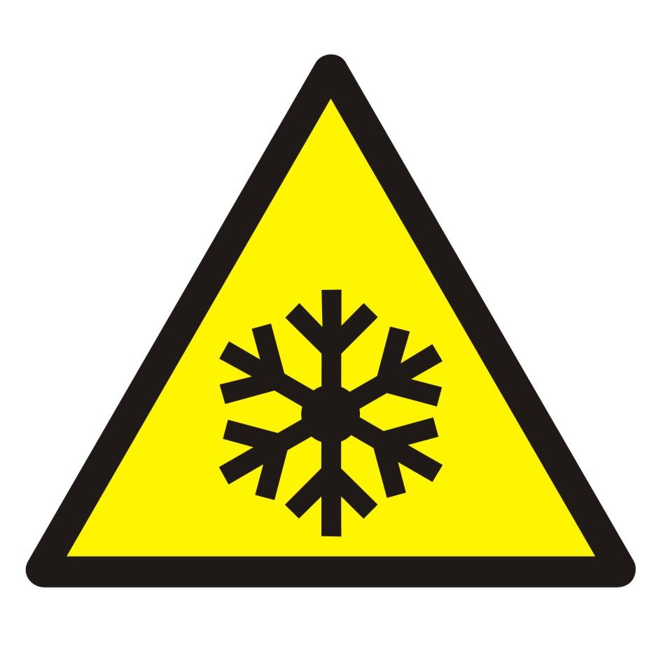 Znak Ostrzeżenie przed niską temperaturą / warunkami zamarzania
