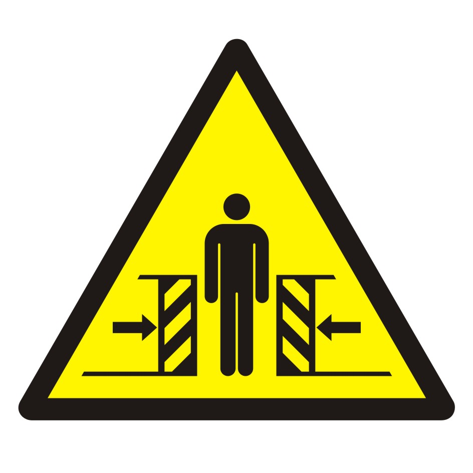 Znak Ostrzeżenie przed zgnieceniem bocznym
