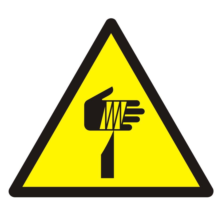 Znak Ostrzeżenie przed ostrymi elementami