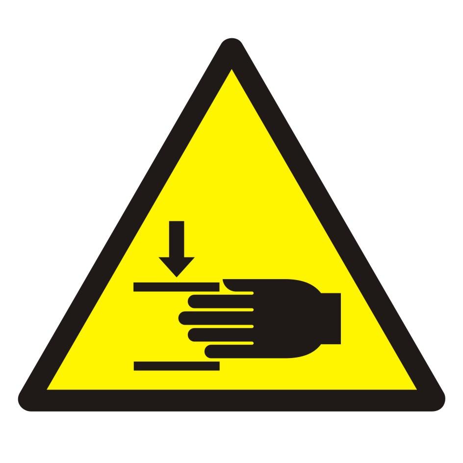Znak Ostrzeżenie przed zgnieceniem dłoni