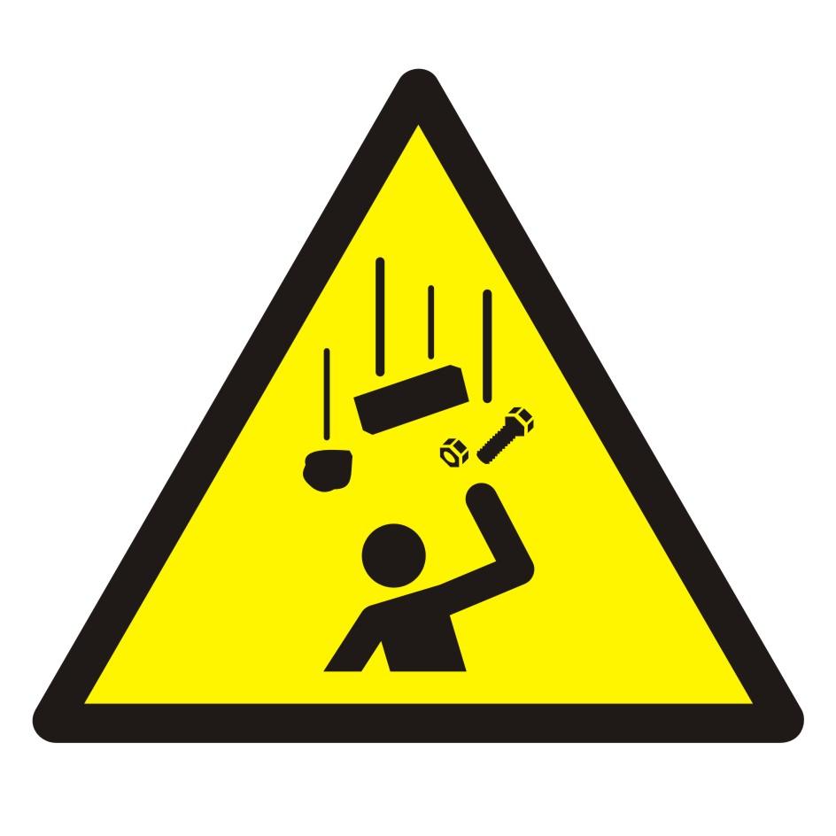 Znak Ostrzeżenie przed spadającymi elementami