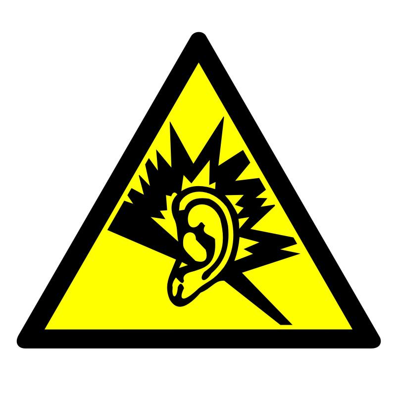 Znak Ostrzeżenie przed silnym hałasem