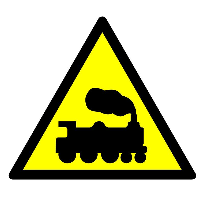 Znak Ostrzeżenie - rampa lub przejazd kolejowy
