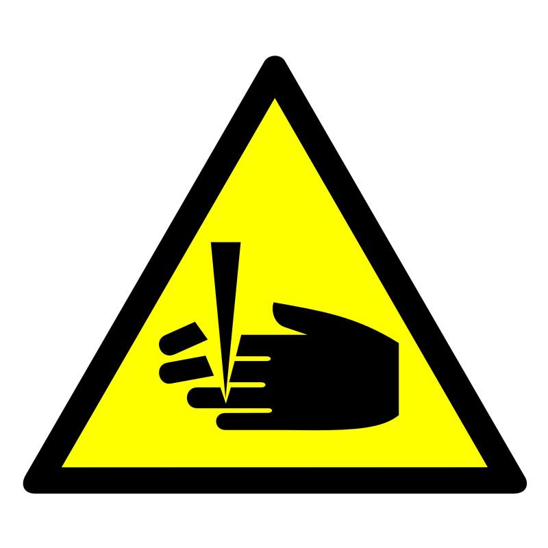 Znak Ostrzeżenie przed niebezpieczeństwem obcięcia palców