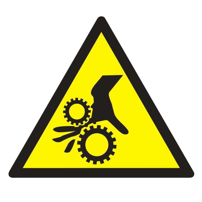 Znak UWAGA! Wirujące elementy