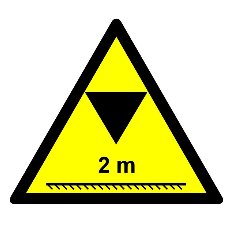Znak UWAGA - ograniczenie wysokości