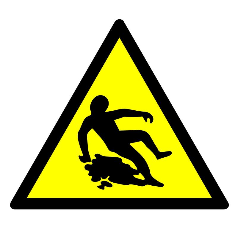 Znak Ostrzeżenie przed śliską powierzchnią 2