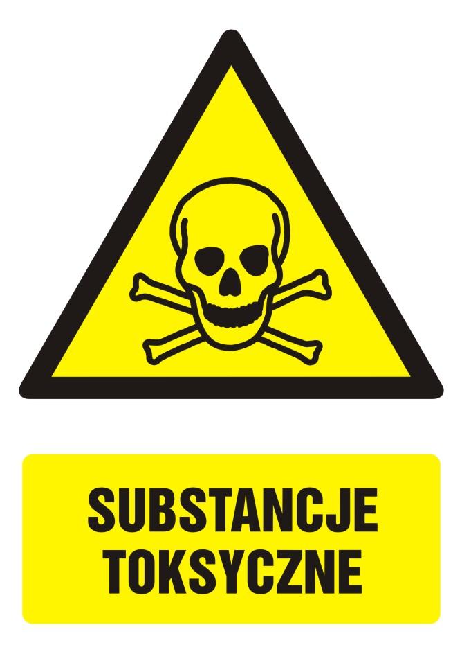 Znak Substancje toksyczne z opisem