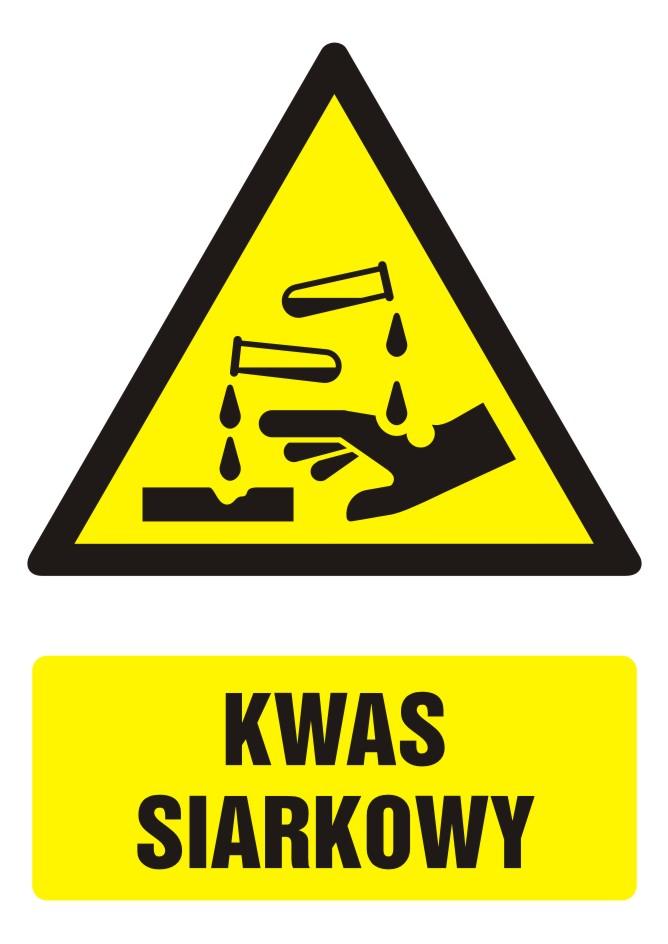 Znak Kwas siarkowy z opisem