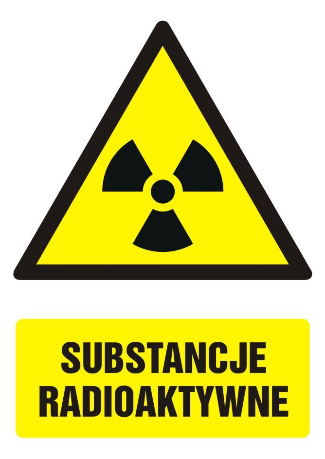 Znak Substancje radioaktywne z opisem