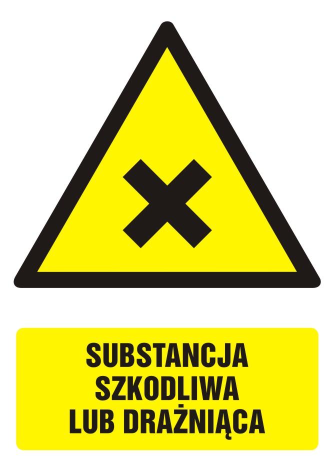 Znak Substancja szkodliwa lub drażniąca z opisem