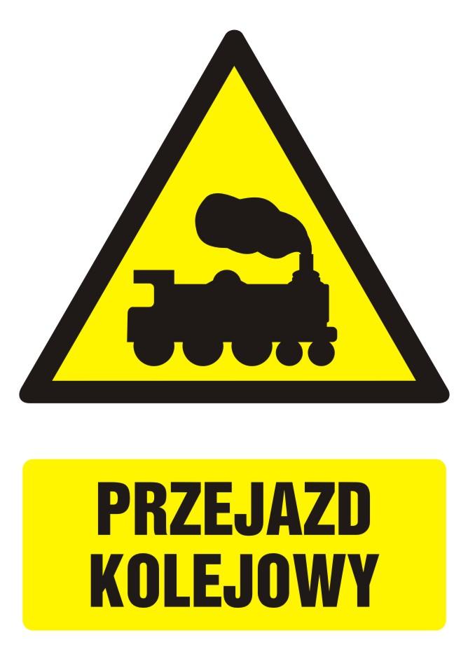 Znak Przejazd kolejowy z opisem