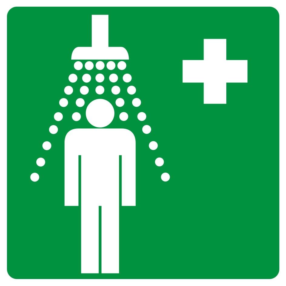 Znak informacyjny Prysznic bezpieczeństwa 2