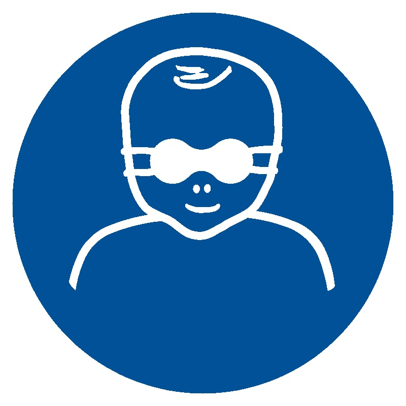 Nakaz ochrony wzroku dzieci przyciemnianymi okularami ochronnymi