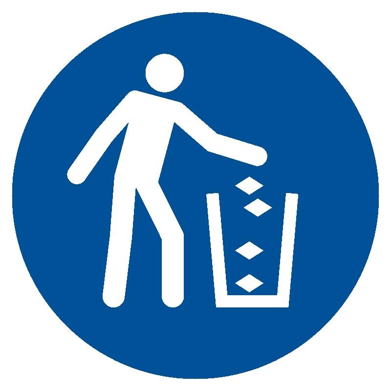 Nakaz używania kosza na śmieci
