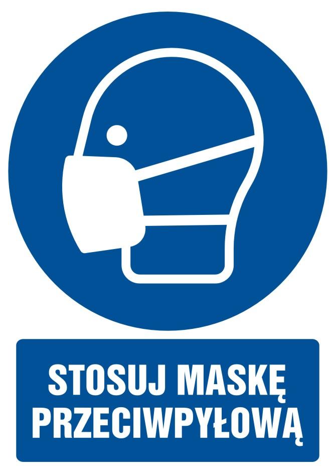 Stosuj maskę przeciwpyłową z opisem