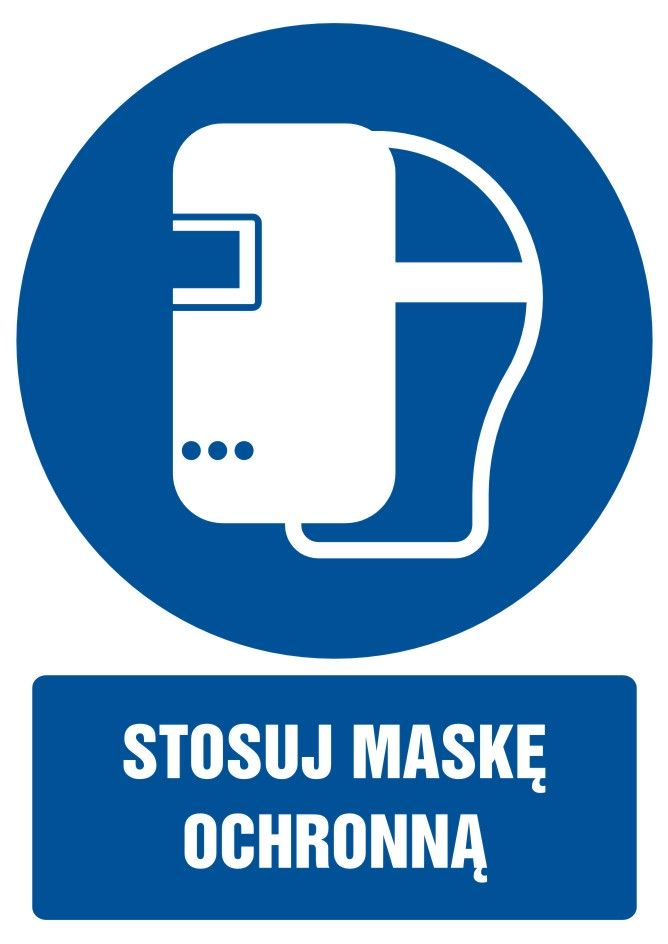 Stosuj maskę ochronną z opisem