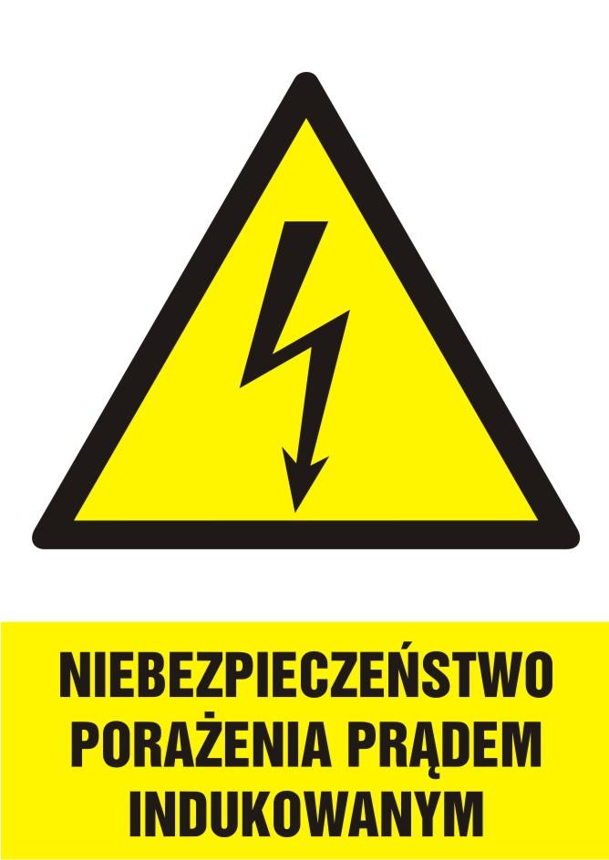 Niebezpieczeństwo porażenia prądem indukowanym - pionowy