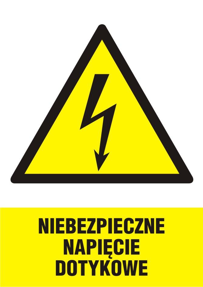 Niebezpieczne napięcie dotykowe - pionowy