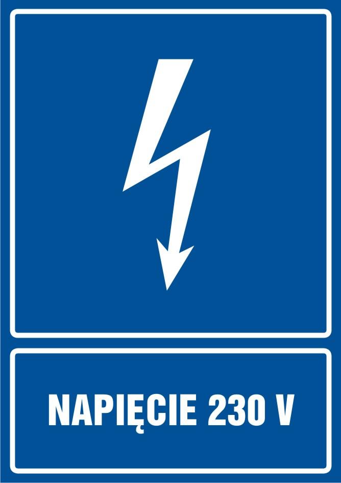 Napięcie 230 V - pionowy
