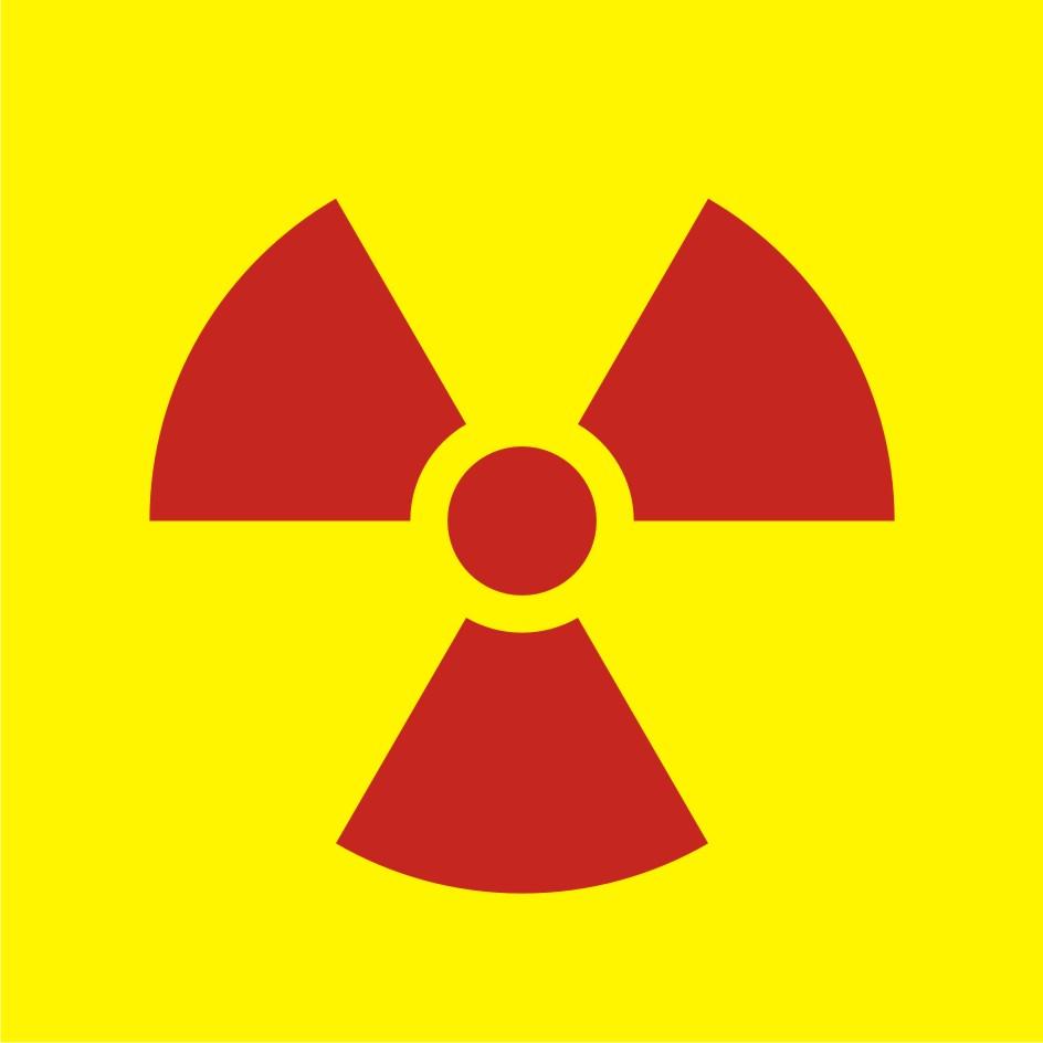 Ostrzegawczy do oznakowania opakowania bezpośredniego otwartego źródła promieniowania