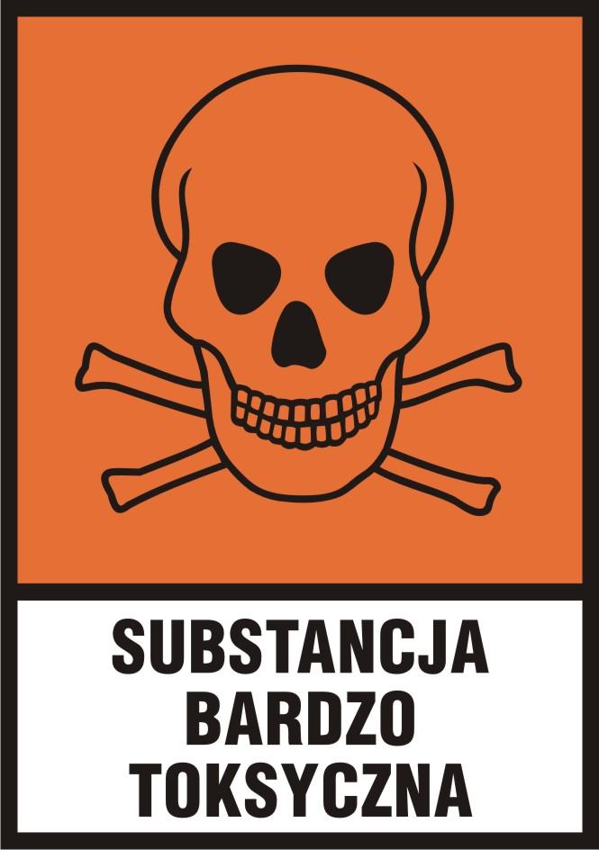 Substancja bardzo toksyczna (T+) z opisem