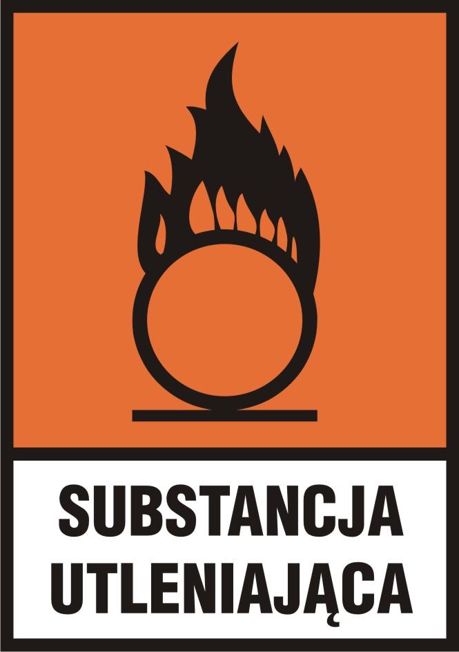 Substancja utleniająca (O) z opisem