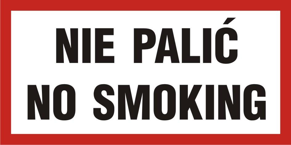 Nie palić - No smoking