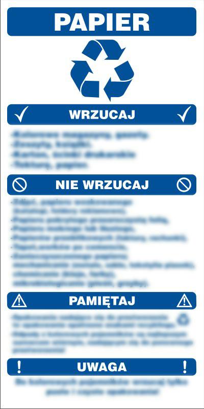 Instrukcja segregacji odpadów - papier
