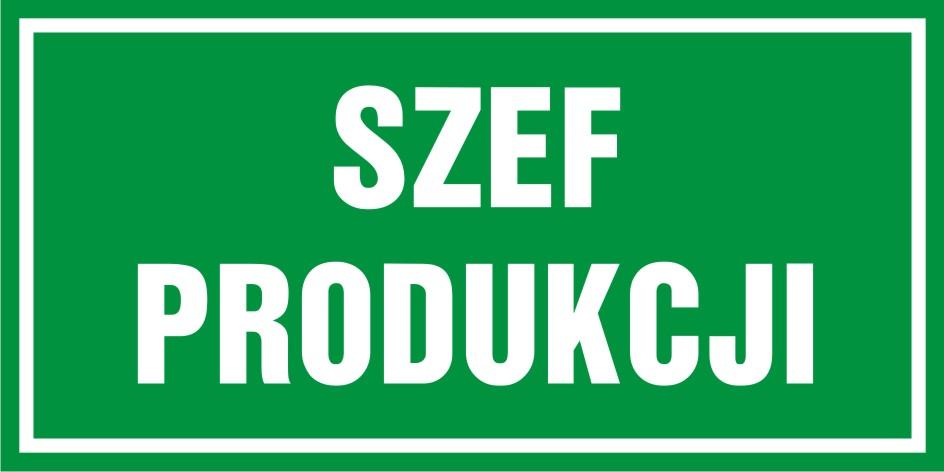 Szef produkcji