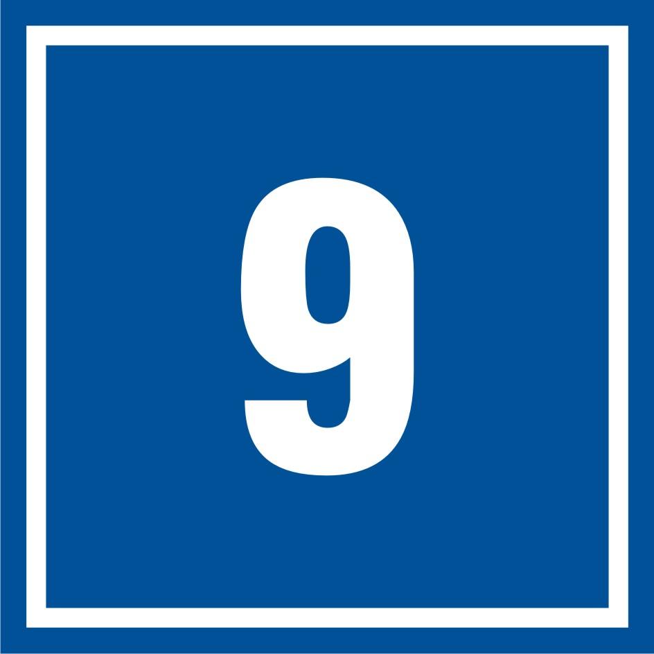 Tabliczka numer 9