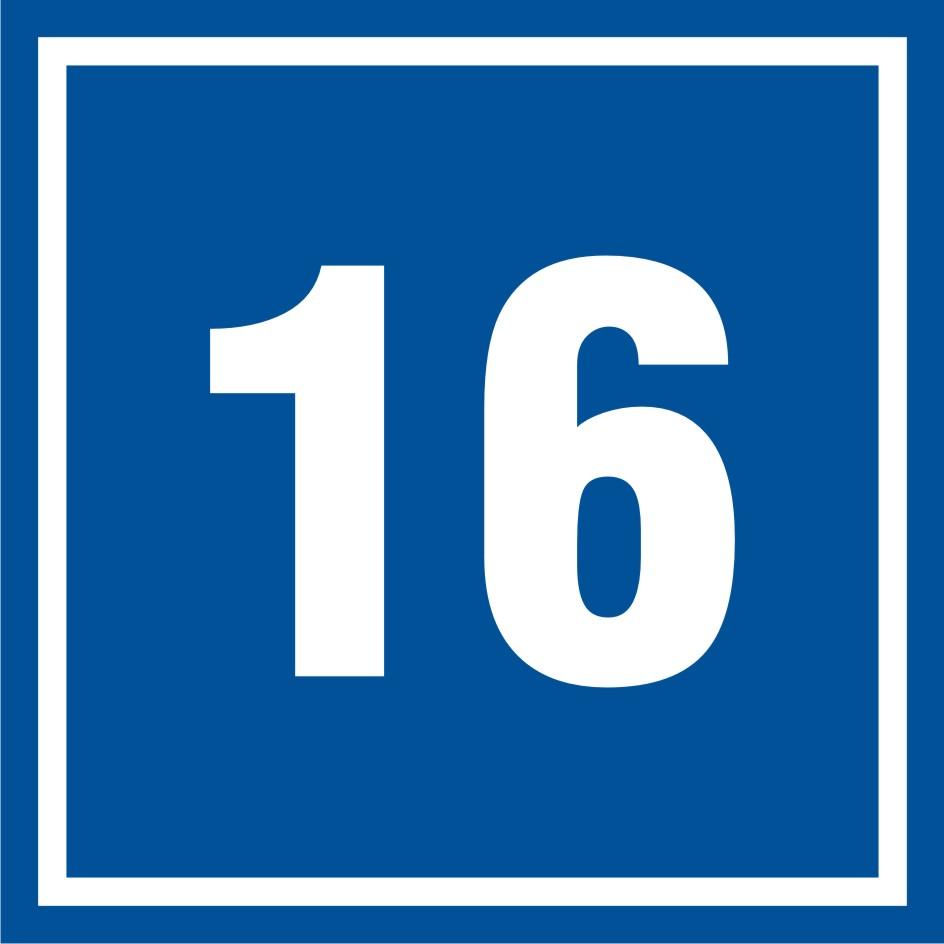 Tabliczka numer 16