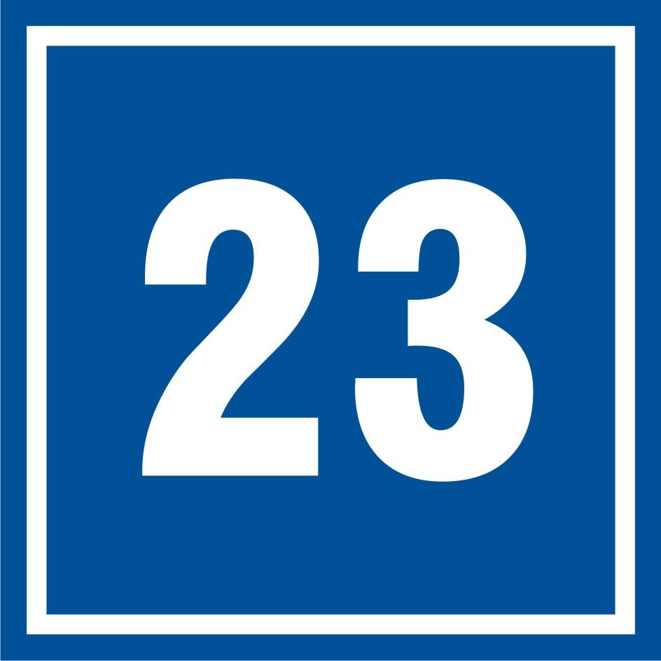 Tabliczka numer 23