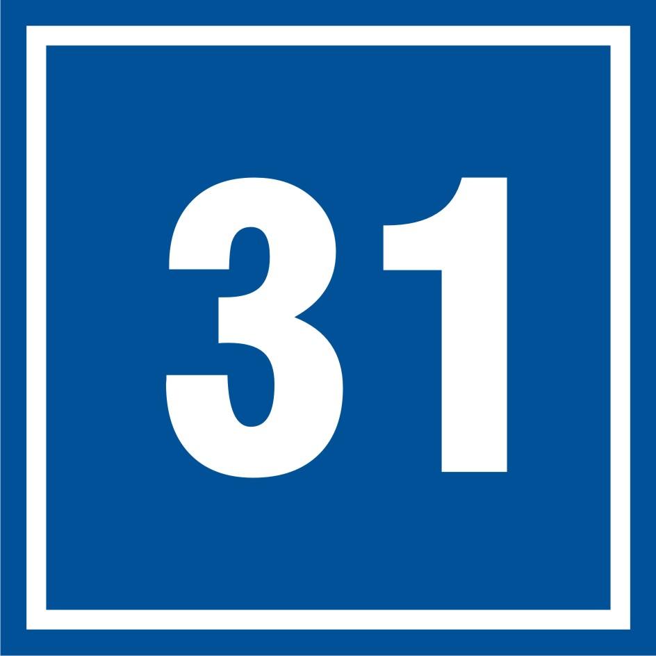 Tabliczka numer 31