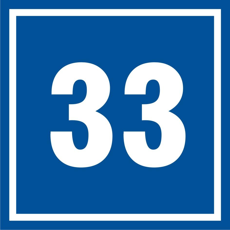Tabliczka numer 33